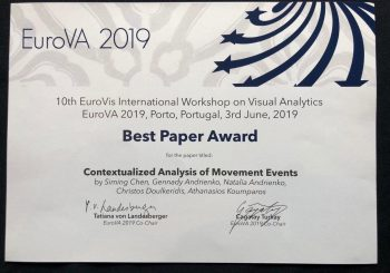 Track & Know Research Work received EuroVA 2019 ''Best Paper Award''
