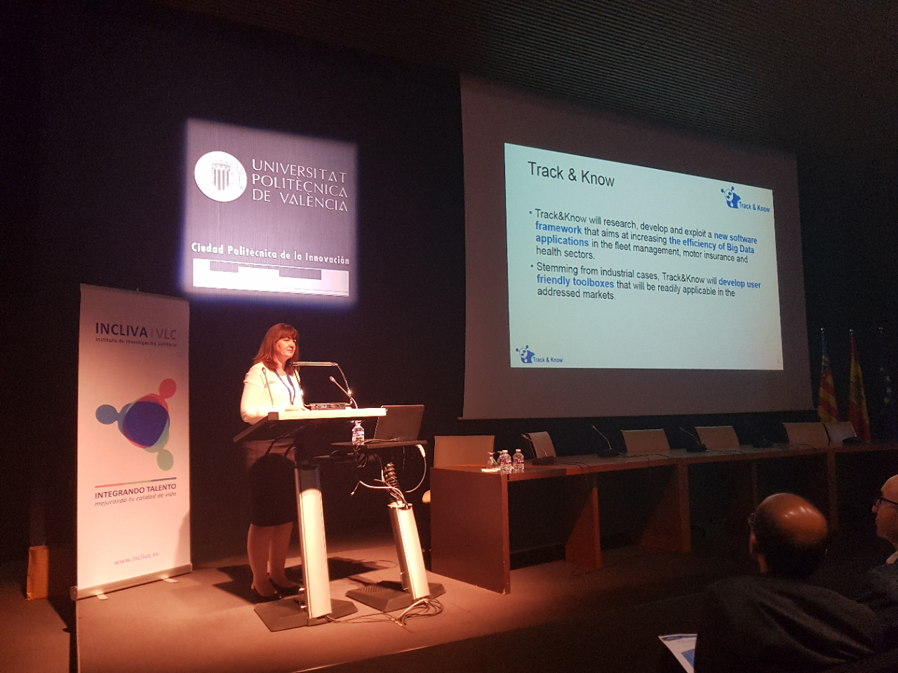 Jenny Rainbird (Inlecom Systems) at the BigMedilytics 2019 event in Valencia